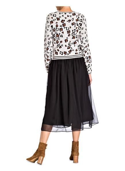 Kleid Schwarz Creme Kleid Oui Hellbraun Oui gT1qF7