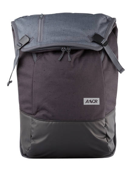 AEVOR Rucksack DAYPACK 18 l (erweiterbar auf 28 l) mit Laptop-Fach, Farbe: SCHWARZ/ BLAUGRAU (Bild 1)