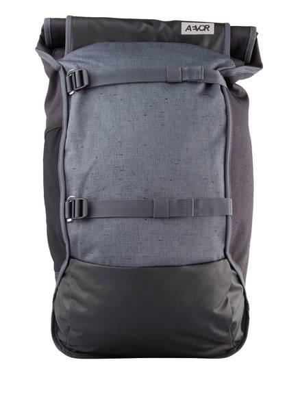 AEVOR Rucksack TRIP PACK mit Laptopfach 31 l (erweiterbar auf 33 l), Farbe: SCHWARZ/ PETROL (Bild 1)