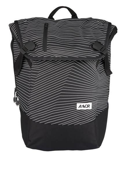 AEVOR Rucksack DAYPACK 18 l (erweiterbar auf 28 l), Farbe: SCHWARZ/ WEISS (Bild 1)