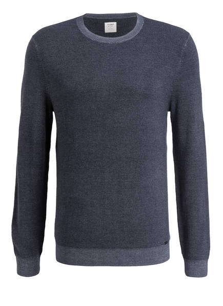 Anthrazit pullover Schurwoll Olymp pullover Schurwoll Olymp Meliert Anthrazit dWwFxxO