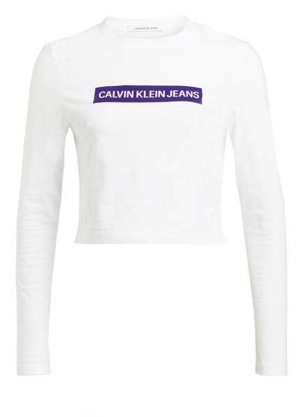 Calvin Jeans Klein Box Longsleeve Institutional Weiss rpnrxFq5RS
