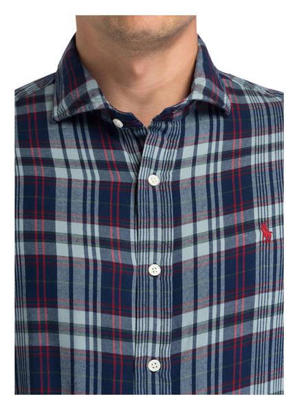 Hellblau Rot Polo Lauren Standard Hemd Dunkelblau Madras Ralph Fit Kariert 0UW8n0r