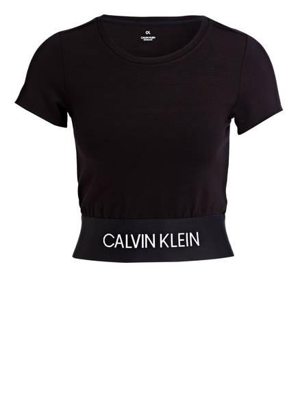 Calvin Klein Performance Cropped-Shirt, Farbe: SCHWARZ (Bild 1)