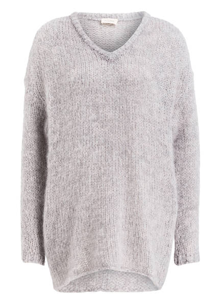 American Vintage Oversized-Pullover, Farbe: HELLGRAU MELIERT (Bild 1)
