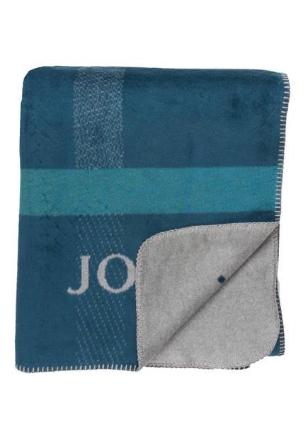 JOOP! Plaid SQUARE , Farbe: PETROL/ GRAU (Bild 1)