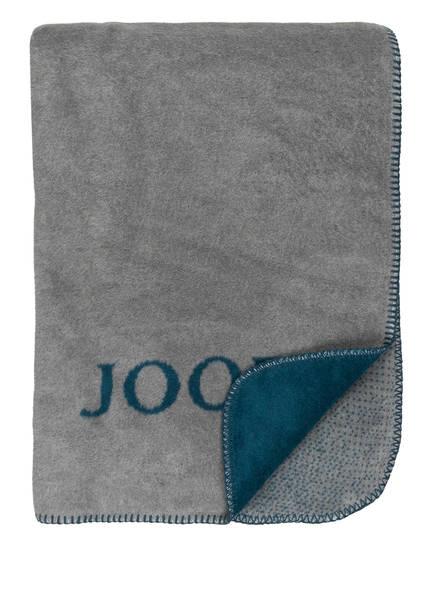 JOOP! Plaid CLASH , Farbe: PETROL/ GRAU (Bild 1)