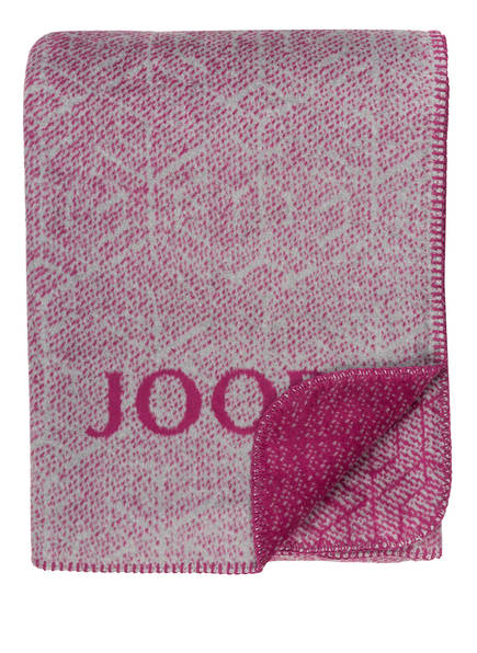 JOOP! Plaid METRIC , Farbe: BEERE/ GRAU (Bild 1)