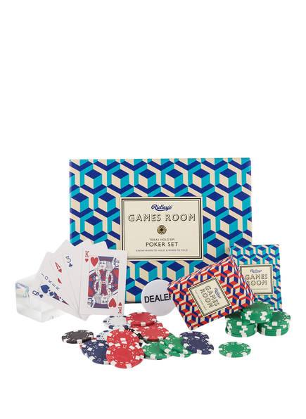 Ridley's GAMES Pokerspiel, Farbe: BLAU/ ROT/ GRÜN (Bild 1)