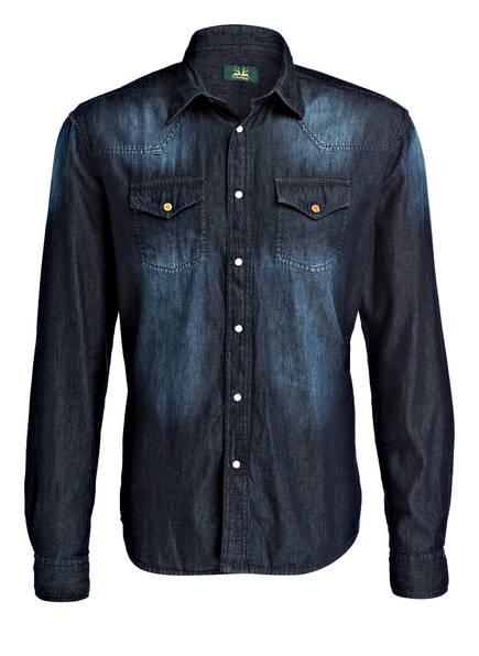 Wiesnkönig Trachtenhemd ELIAS Modern Fit, Farbe: DUNKELBLAU (Bild 1)