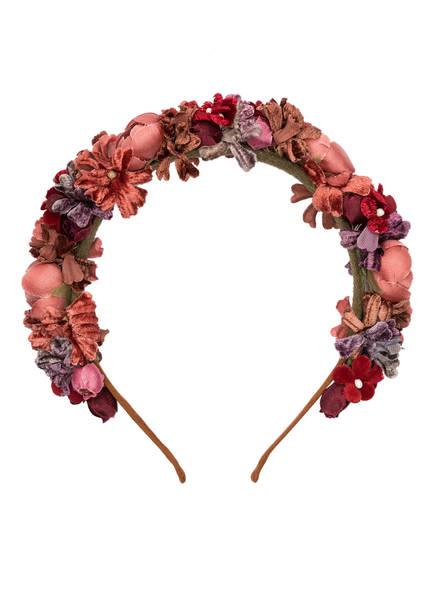 SCHÖNES FRÄULEIN Blumen-Haarreif SOPHERL, Farbe: ROSA/ ROT/ LILA (Bild 1)