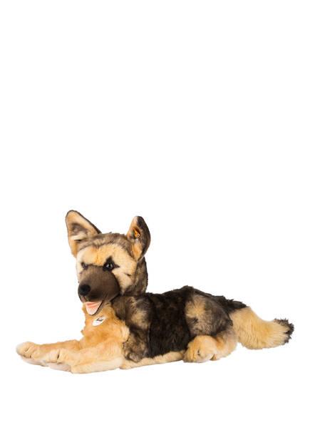 Steiff Schäferhund-Kuscheltier MIKE , Farbe: DUNKELBRAUN/ HELLBRAUN (Bild 1)