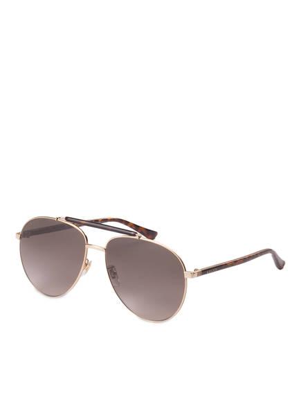 GUCCI Sonnenbrille GG0014S, Farbe: 002 - GOLD/ HAVANA/ BRAUN (Bild 1)