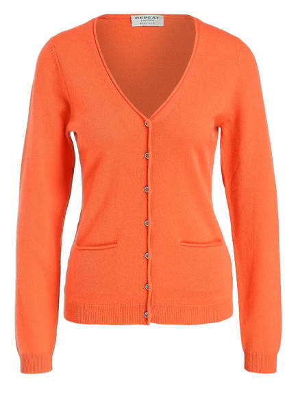 REPEAT Cashmere-Cardigan, Farbe: ORANGE (Bild 1)