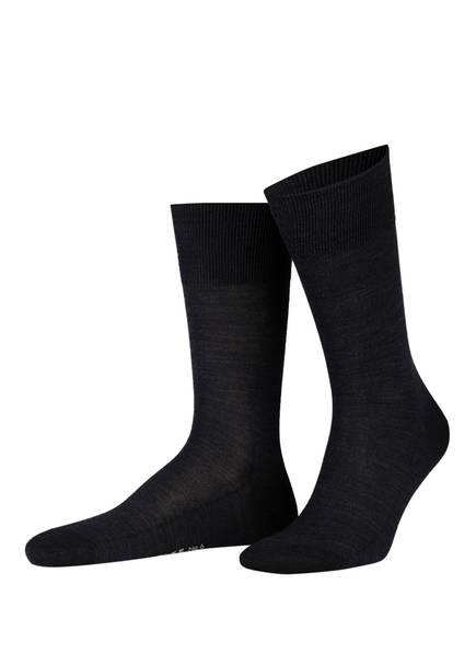 FALKE Socken LUXURY NO. 6 , Farbe: 3080 ANTHRACITE  MELANGE (Bild 1)