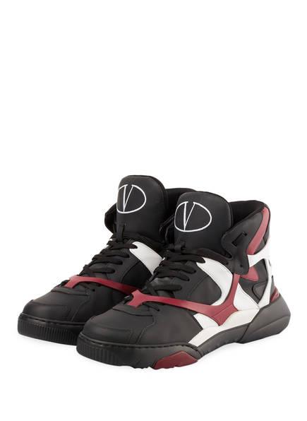 VALENTINO GARAVANI Hightop-Sneaker MADE ONE, Farbe: SCHWARZ/ DUNKELROT (Bild 1)
