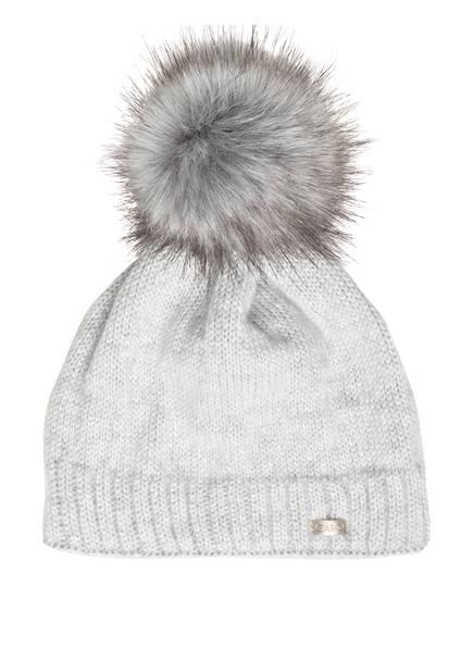 CAPO Mütze BUTTERFLY mit Kunstpelzbommel, Farbe: SILBER (Bild 1)