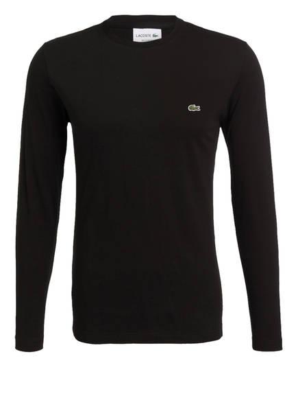 LACOSTE Langarmshirt Regular Fit, Farbe: SCHWARZ (Bild 1)