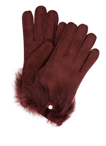 UGG Lederhandschuhe, Farbe: ROST  (Bild 1)