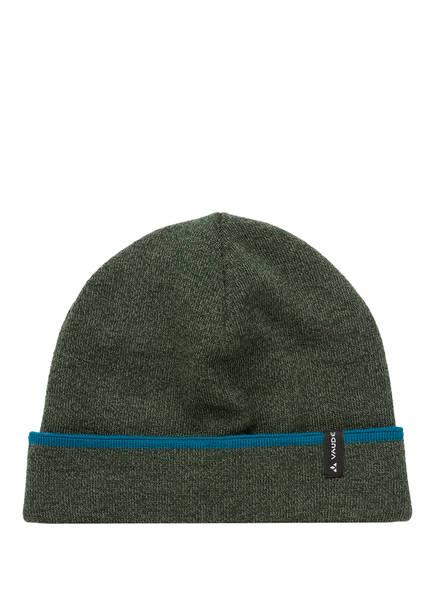 VAUDE Mütze HARDANGER , Farbe: DUNKELGRÜN MELIERT (Bild 1)