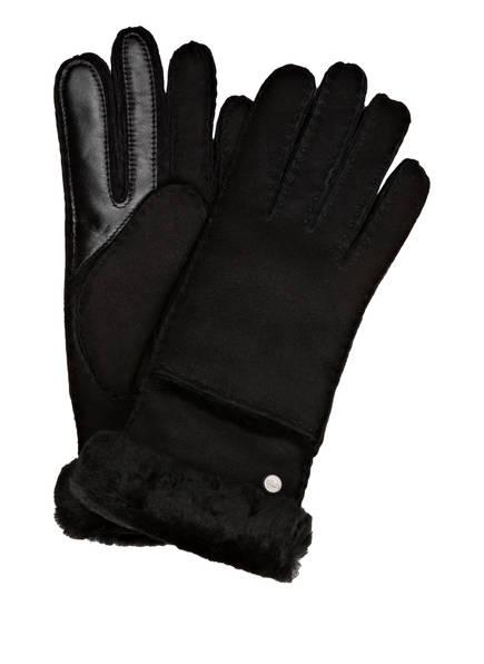 UGG Lederhandschuhe , Farbe: SCHWARZ (Bild 1)