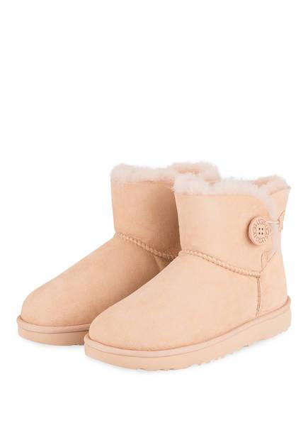 UGG Boots MINI BAILEY BUTTON II, Farbe: BEIGE (Bild 1)
