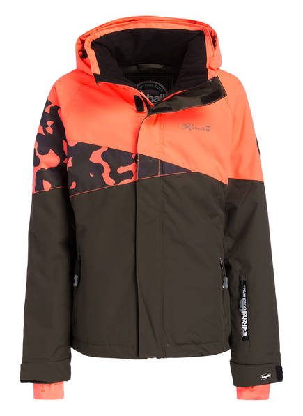 Rehall Skijacke RUBY-R, Farbe: NEONLACHS/ BRAUN (Bild 1)
