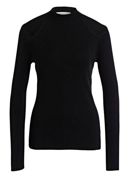 MICHAEL KORS Cold-Shoulder-Pullover, Farbe: SCHWARZ (Bild 1)
