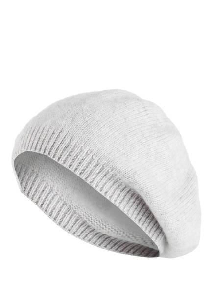 S.MARLON Baskenmütze aus Cashmere, Farbe: HELLGRAU MELIERT (Bild 1)