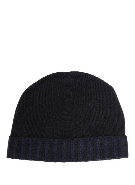Chas Cashmere-Mütze, Farbe: SCHWARZ/ NAVY (Bild 1)