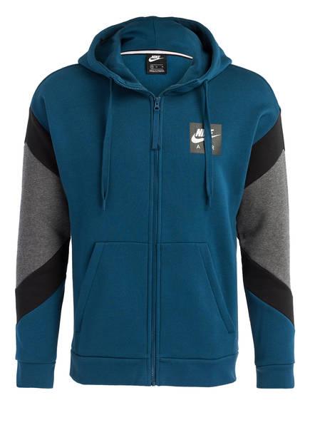 Nike Hoodie AIR FLEECE, Farbe: PETROL/ GRAU MELIERT (Bild 1)