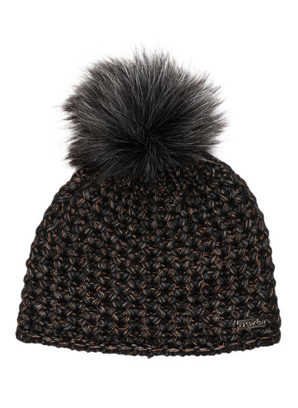 norton Mütze mit Kunstpelzbommel, Farbe: SCHWARZ (Bild 1)
