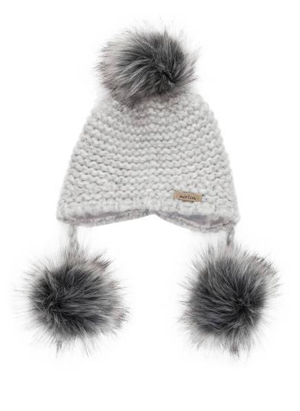 norton Mütze mit Alpaka-Anteil und Kunstpelzbommel, Farbe: GRAU (Bild 1)