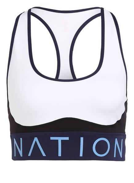 P.E NATION Sport-BH, Farbe: WEISS/ DUNKELBLAU (Bild 1)