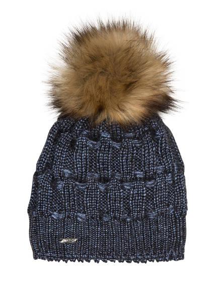 CAPO Mütze mit Kunstpelzbommel, Farbe: BLAU (Bild 1)