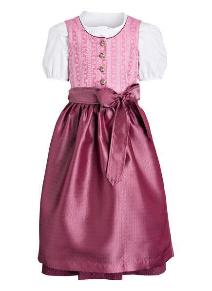 BERWIN & WOLFF Dirndl mit Bluse, Farbe: ROSA/ DUNKELROT (Bild 1)