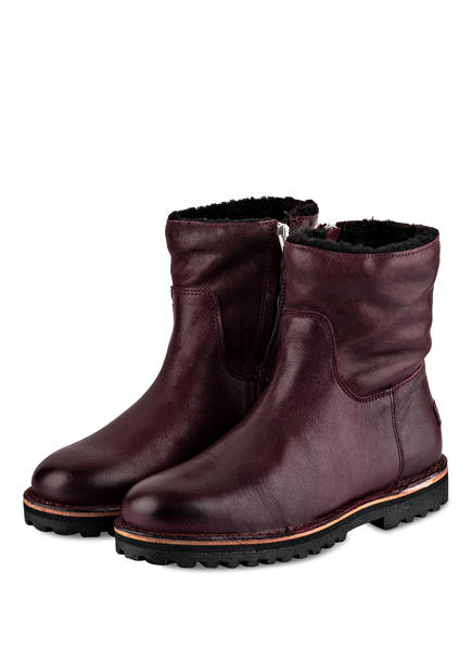 SHABBIES AMSTERDAM Boots, Farbe: BORDEAUX (Bild 1)