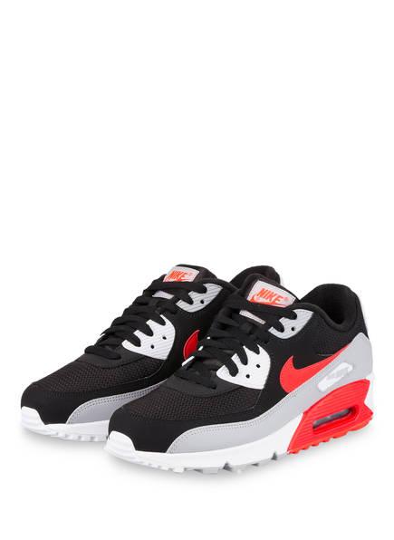 Nike Sneaker AIR MAX 90 ESSENTIAL, Farbe: SCHWARZ/ GRAU/ ROT (Bild 1)