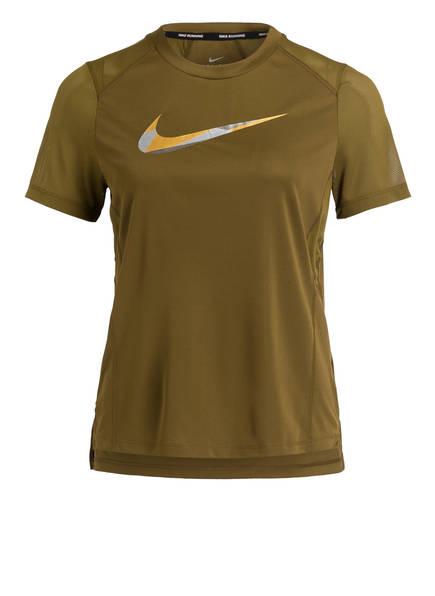 Nike Laufshirt MILER METALLIC, Farbe: OLIV (Bild 1)