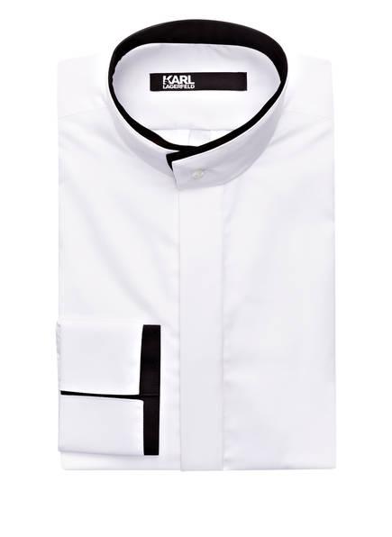 hemd modern fit mit stehkragen von karl lagerfeld bei breuninger kaufen  karl lagerfeld hemd modern fit mit stehkragen, farbe weiss (bild 1)