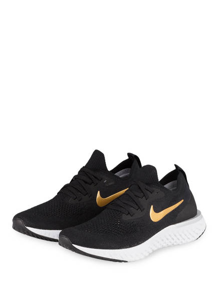 Nike Laufschuhe EPIC REACT FLYKNIT, Farbe: SCHWARZ/ GOLD (Bild 1)