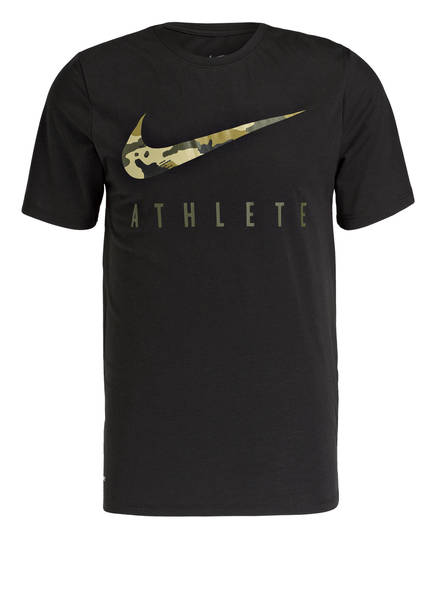 Nike T-Shirt DRY CAMO, Farbe: SCHWARZ (Bild 1)