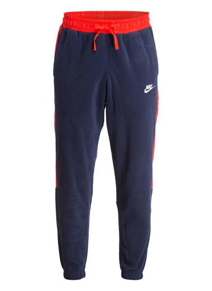 Nike Hose im Joggingstil, Farbe: DUNKELBLAU/ ROT (Bild 1)