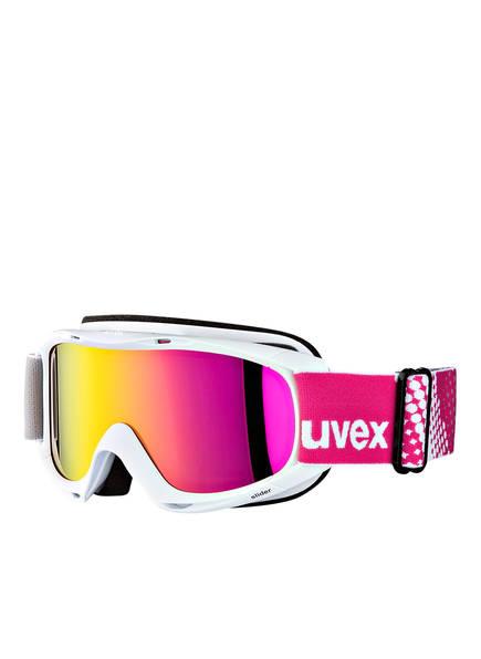 uvex Skibrille SLIDER FM, Farbe: WEISS/ PINK (Bild 1)