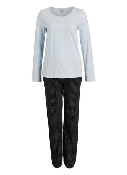 Marc O'Polo Schlafanzug, Farbe: HELLBLAU/ DUNKELBLAU (Bild 1)