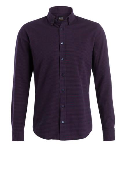 BOSS Hemd MABSOOT Slim Fit, Farbe: DUNKELBLAU/ ROT (Bild 1)
