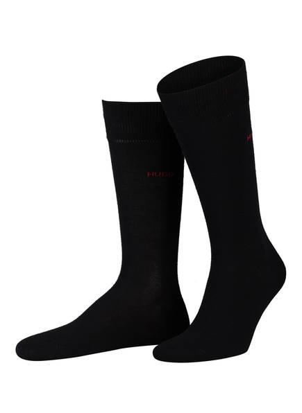 HUGO 2er-Pack Socken, Farbe: SCHWARZ/ ROT (Bild 1)
