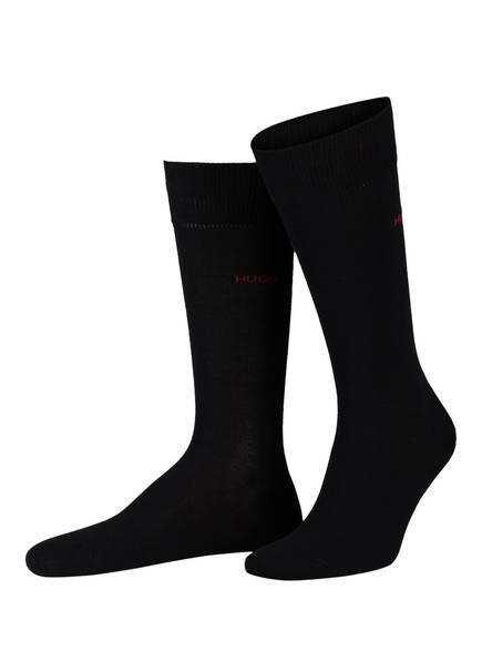 HUGO 2er-Pack Socken, Farbe: SCHWARZ/ WEISS/ GRAU (Bild 1)