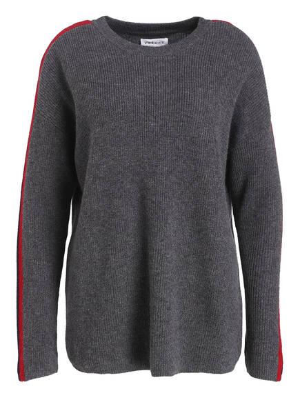 velvet Cashmere-Pullover ELIANA, Farbe: ROT/ GRAU (Bild 1)