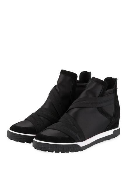 MARCCAIN Hightop-Sneaker, Farbe: SCHWARZ/ WEISS (Bild 1)